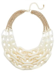 our new ivory ombré chain strand has summer 2013 written all over it