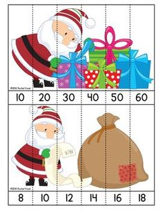 Skip Counting with Santa! Skip counting FREEBIE!
