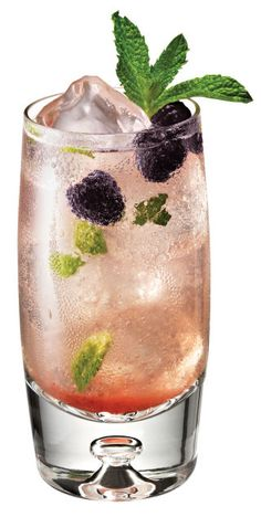 Ingredients 1 ½ oz Chambord flavored Vodka1 ½ oz Limoncello½ oz Simple Syrup6 Mint Leaves2 RaspberriesTop with Perrier Instructions Muddle Raspberries, mint leaves and simple syrup and add other ingredients into cocktail shaker with ice. Shake vigorously and strain over fresh ice into highball glass and top with Perrier. Garnish with fresh raspberries and a mint sprig.