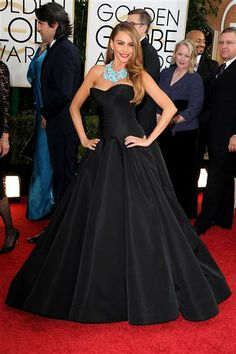Sofia Vergara attends the 71st annual Golden Globe Awards held at The Beverly Hilton Hotel in Beverly Hills, Calif., on Jan. 12, 2014. #BESTDRESSED #GG71