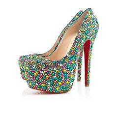 Christian Louboutin Highness Strass Strass Peep Toe Pumps 160mm