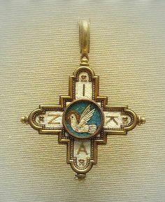 кулон Крест, XIX в., Британский музей