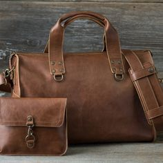 Leather Overnight Duffel Bag