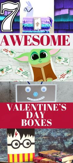 Check out these Valentine's Day box ideas like a LOL Suprise! Valentines Mailbox, a Fortnite Llama Classroom Valentine Mailbox , a Baby Yoda Valentine Box with a free printable template and more Valentine's Day Box ideas for school.