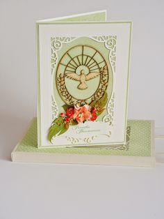 817 Pamiątka bierzmowania Baptism Gifts, Cardmaking, Christmas Cards, Clock, Treats, Baby, Decor, Ideas, Easter