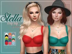 """trillyke: """" Stella Crop Top Someone requested a solid version of the Cassie Crop Top. I had a little time after one of my finals (still 3 left uh…) So here they are, coming in a bunch of colours!..."""