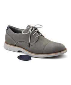 Look what I found on #zulily! Gray Bellingham Cap Leather Oxford by Sperry Top-Sider #zulilyfinds
