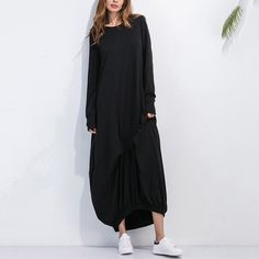 Сегодня Plus2017 S-5xl Для женщин хлопок макси в стиле ретро с длинными рукавами Винтаж Этническая Платье Осень свободные платья Повседневное Стиль плюс Размеры кафтан