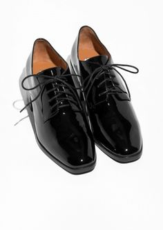 & Other Stories image 2 of Glossy Patent Leather Dressed Shoes in Black