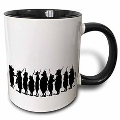 3dRose mug_23462_4 Pig Army Two Tone Black Mug 11 oz BlackWhite * Check out the image by visiting the link.