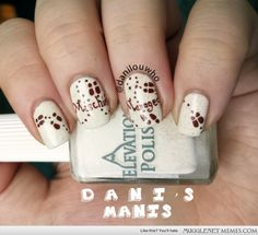 Marauders Map nail art! - - Harry Potter Memes and Funny Pics - MuggleNet Memes