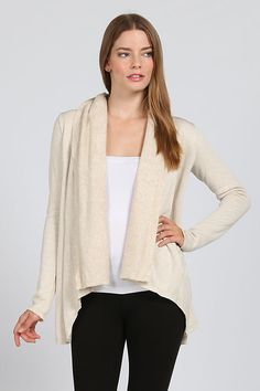 SOLID KNIT SHAWLL COLLAR CARDIGAN