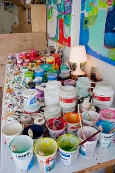 This is my paint table. - Claire Desjardins.