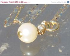 Fashion Jewelry Sale 14k Yellow Gold Pearl by Yourgreatfinds
