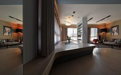 architecture inspiring home Unconventional Apartment in Taiwan With Striking Custom Made Furniture Elements