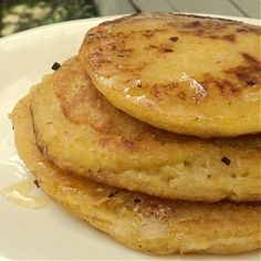 Check out our guide to #vegan substitutions (http://jewishveg.org/vegan-substitutes) to make these Polenta Pancakes cruelty-free!