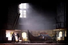 Rigoletto from Teatro di San Carlo, Napoli. Production by Arnaud Bernard. Sets by Alessandro Camera.