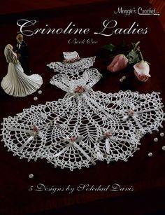 Crinoline Ladies Crochet Patterns. www.maggiescrochet.com