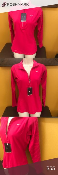 Nike Dri Fit Workout Jacket Beautiful workout jacket! I'm in love with the pink color! Nice Nike print on left arm. I purchased brand new, but too small. Price is firm because I love this jacket and will keep for myself for when I lose the weight. Nike Tops Sweatshirts & Hoodies