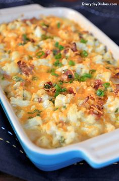 "Loaded Cauliflower Casserole Recipe from Sandra: ""This recipe with a few adjustments eg no bacon and food process the cauliflower after cooking until it is like rice should be good for my mother."" by kellie Cauliflower Recipes, Vegetable Recipes, Vegetarian Recipes, Cooking Recipes, Healthy Recipes, Low Carb Cauliflower Casserole, Vegan Cauliflower, Broccoli And Califlower Casserole, Healthy Casserole Recipes"