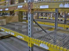 Used Republic Pallet Rack Uprights - by SJF.com