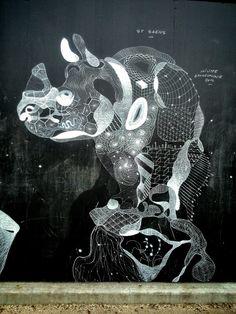 Philippe Baudeloque - street art - Paris 7, berges de seine...