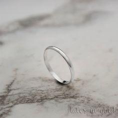 Gold Ring, Band Ring, 14 karat gold Ring, Minimal Jewelry, Dainty Ring, Solid Gold, Wedding Band