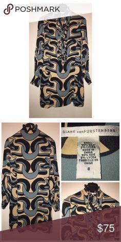 Diane Von Furstenberg Print Dress Like•New  Diane Von Furstenberg Print Dress • Size 8 • Half button closure • Excellent condition Diane von Furstenberg Dresses