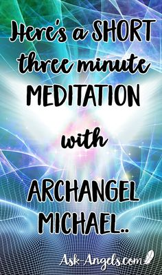 Relax and raise your vibration with this short three minute meditation with Archangel Michael. Easy Meditation, Meditation Benefits, Meditation Quotes, Chakra Meditation, Meditation Music, Mindfulness Meditation, Guided Meditation, Manifestation Meditation, Meditation Corner