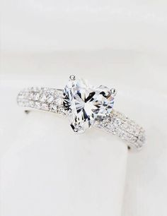 A beautiful heart shaped engagement ring