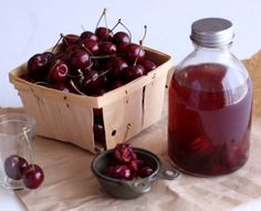 Bourbon soaked cherries. Maybe for my choc covered cherries at Xmas