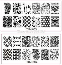 wholesale nail plate,full size nail design 30pcs TU-L Stamp Image not Konad nail temPlate Print Nail Art Template DIY