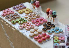 Miniature Food - Rainbow Donuts | Flickr: Intercambio de fotos