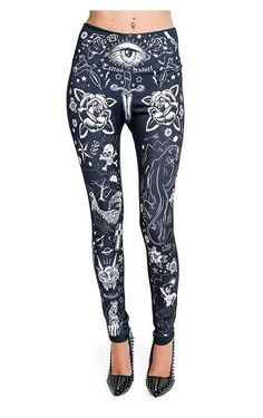 ba2ec1c1f5374c Awesome leggings from Inked magazine Gothic Shop, Jeggings, Dance Wear,  Awesome Leggings,