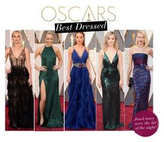 """Oscars Best Dressed!"" by windsorstore ❤ liked on Polyvore featuring мода, SaoirseRonan, jenniferlawrence, NaomiWatts, rachelmcadams и brielarson"