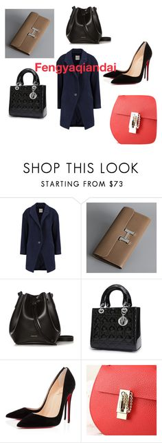 Fengyaqiandai genuine leather bags20151226002 by houseofhello on Polyvore featuring Mason by Michelle Mason, Christian Louboutin and Rachael Ruddick