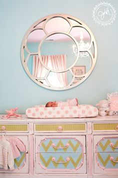 Hey, I found this really awesome Etsy listing at http://www.etsy.com/listing/100752365/custom-painted-vintage-chevron-dresser