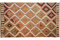 Geometric Turkish Kilim, 5'6