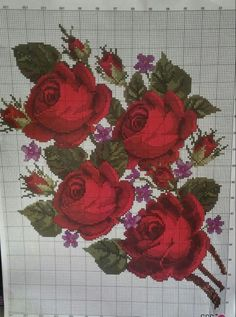 This Pin was discovered by lau Cross Stitch Love, Cross Stitch Borders, Cross Stitch Flowers, Cross Stitching, Cross Stitch Embroidery, Cross Stitch Patterns, Hand Embroidery, Crochet Flower Patterns, Embroidery Patterns Free