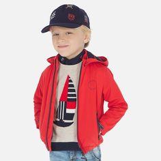 Wiatrówka dla chłopców Mayoral Motorcycle Jacket, Rain Jacket, Windbreaker, Jackets, Fashion, Hibiscus, Templates, Windbreaker Jacket, Cowls