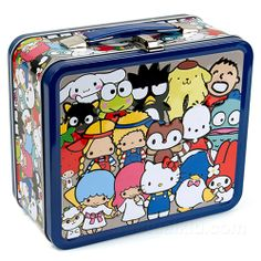SANRIO ALL CHARACTERS LUNCH BOX--with my favorite, Tuxedo Sam!