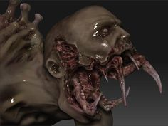 This image is a mix between a monster and a zombie. I think that this image is very interesting because of how the zombie is shaped out. I think that it has some good characteristics for being a zombie. For example, sharp teeth etc. I think that it would a good thing to draw from as well.