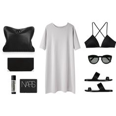 Minimalistic Monochrome Style △ love it, but with a pair of black boots or something <3