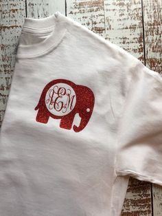 Alabama Monogram Long Sleeve Elephant Monogram Alabama Shirt Crimson Tide Tee | eBay