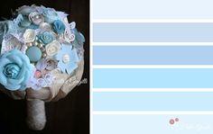 Palette matrimonio 2016: bianco e serenity. Scopri altre palette e bouquet con il l'azzurro: http://www.trilliegingilli.com/bouquet-sposa-serenity-pantone-2016/