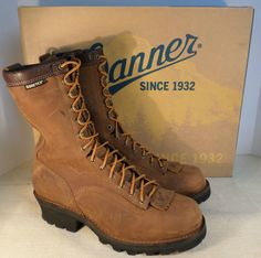 DANNER 14573 MEN'S QUARRY LOGGER GTX BROWN PLAIN TOE BOOTS SIZE 11.5 NEW IN BOX in Clothing, Shoes & Accessories, Men's Shoes, Boots | eBay