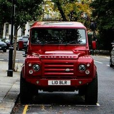 Land Rover Defender Td4 customized . Notting Hill
