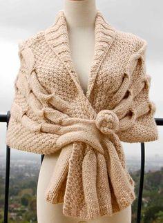 Knit Wrap Pattern | Oscillation Wrap Pattern | Pam Powers Knitting