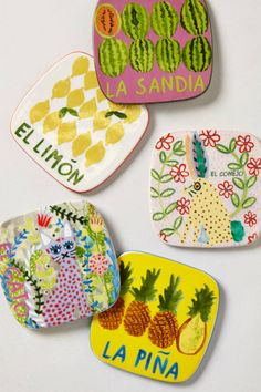 Coasters for the patio - how cute are the pineapples!?!