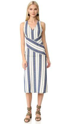 EDUN Marine Stripe Dress